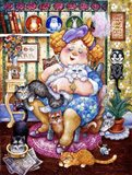 The Lady Who Loves Cats Art Print