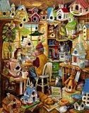 The Birdhouse Man Art Print