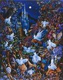 Blue Fairies Art Print