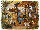 Noah & the Animals Art Print