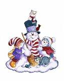 Winter Cats Art Print