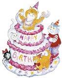 Birthday Cats Art Print