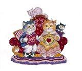 Valentine Cats Art Print