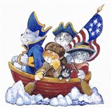 Potomac Cats Art Print