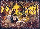 Noah - Lions-Tigers-Bears Art Print