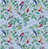 Aviary Small Scroll Periwinkle Art Print