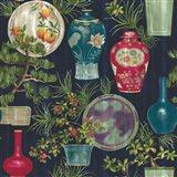 Japanese Vases Blue Art Print