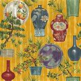 Japanese Vases Gold1 Art Print