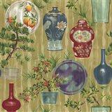 Japanese Vases Neutral1 Art Print