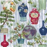 Japanese Vases Srokes Multi Art Print