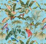 Jungle Canopy Aqua Art Print