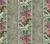 Orchid Toile Panel  Neutral Art Print