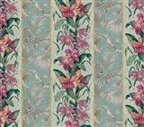 Orchid Toile Panel Celadon Art Print