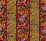 Orchid Toile Panel Cinnabar Art Print