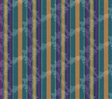 Scroll Stripe Teal Art Print