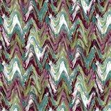 Wavy Stripe Aubergine Art Print