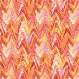 Wavy Stripe Poppy Art Print