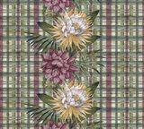 Cereus Plaid Sagep Plum Art Print