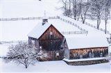Snow Day on the Farm Art Print