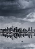 Toronto Skyline From Colonel Samuel Smith Park Reflection No 1 Art Print