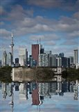 Toronto Skyline From The Pape Ave Bridge Reflection No 1 Art Print