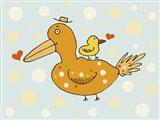 Bird And Baby Art Print