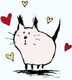 Little Pink Cat Art Print
