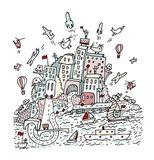 Transport City Art Print