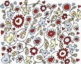Bird Flowers Art Print