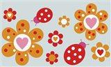 Ladybird Flowers Art Print