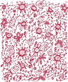 Playful Pink Flowers Art Print