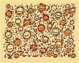 Smiling Sunflowers Art Print