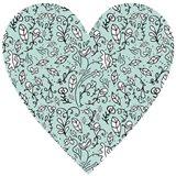 Blue Flower Heart Art Print