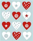 Christmas Hearts Art Print
