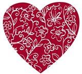 Japanese Flower Heart Art Print