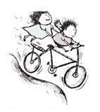 Bike Kids Art Print