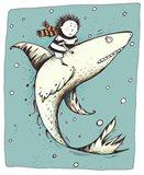 Fish Boy Art Print