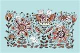 Flower Monsters Art Print
