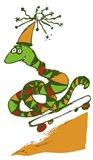 Skateboard Snake Art Print