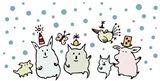 Christmas Creatures Art Print