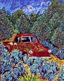 Little Red Truck Art Print