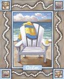 Beach Chair Calm Art Print
