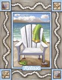 Beach Chair Relax Art Print