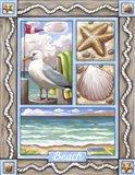 Beach Seagull Art Print
