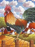 Rooster Country Art Print