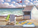 Seaside Beach Art Print