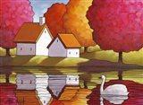 Swan Waters Reflection Art Print