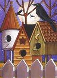 Moon Crows Houses Art Print