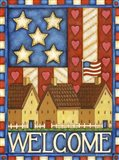 American Welcome Cottage Art Print