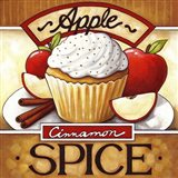 Cupcake Apple Cinnamon  Spice Art Print